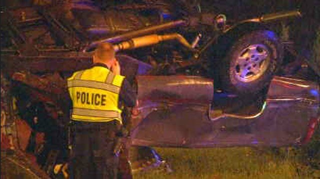 The driver of the pickup died at the hospital. (KCTV5)