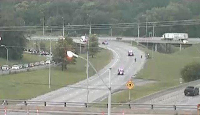 Police say the motorcycle was the only vehicle involved in the accident. (KCTV5)