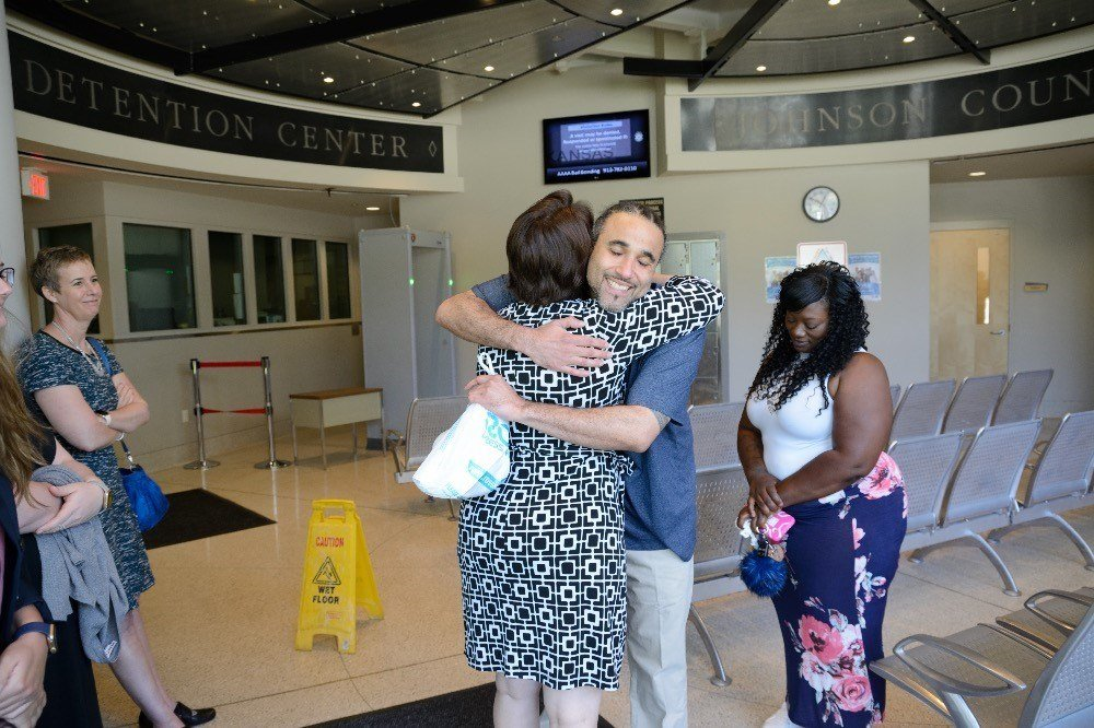 Richard Jones is free after 17 years. He was sent to prison for a purse snatching outside a Walmart where a woman was injured. (Midwest Innocence Project)