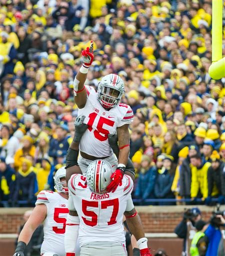 Ohio State and University of Michigan are fierce football rivals.