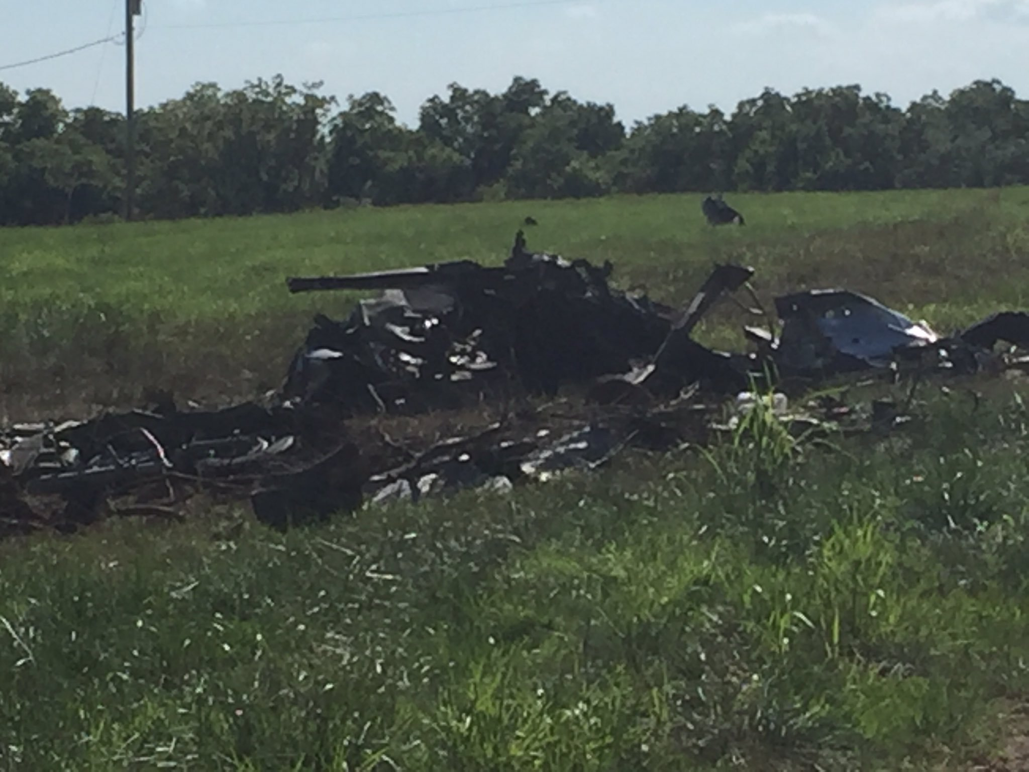 The plane crashed at 238 Ness Road just before 10:30 a.m
