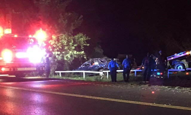 The crash happened about 11:45 p.m. near 54th Terrace and Noland Road. (KCTV5)