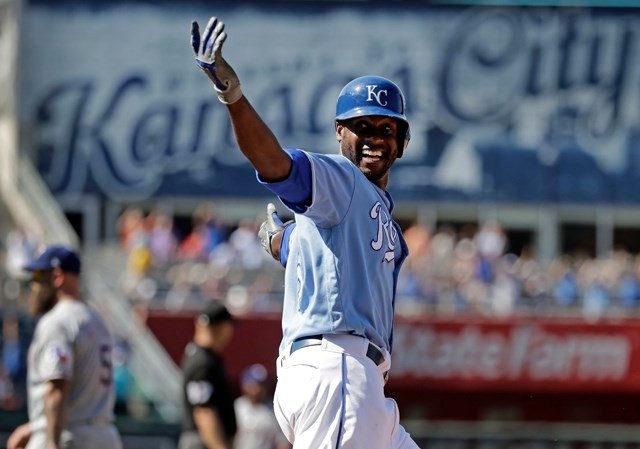 The Royals snapped a five-game losing streak, and also ended a 12-game skid against the Rangers. (AP)