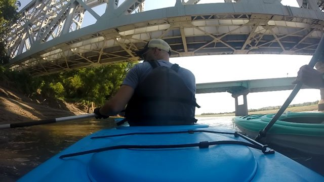 Hundreds of thousands of drivers pass over the Missouri River every day, but few people ever catch a glimpse of the waters that flow under the bridge. (Nathan Vickers/KCTV5 News)