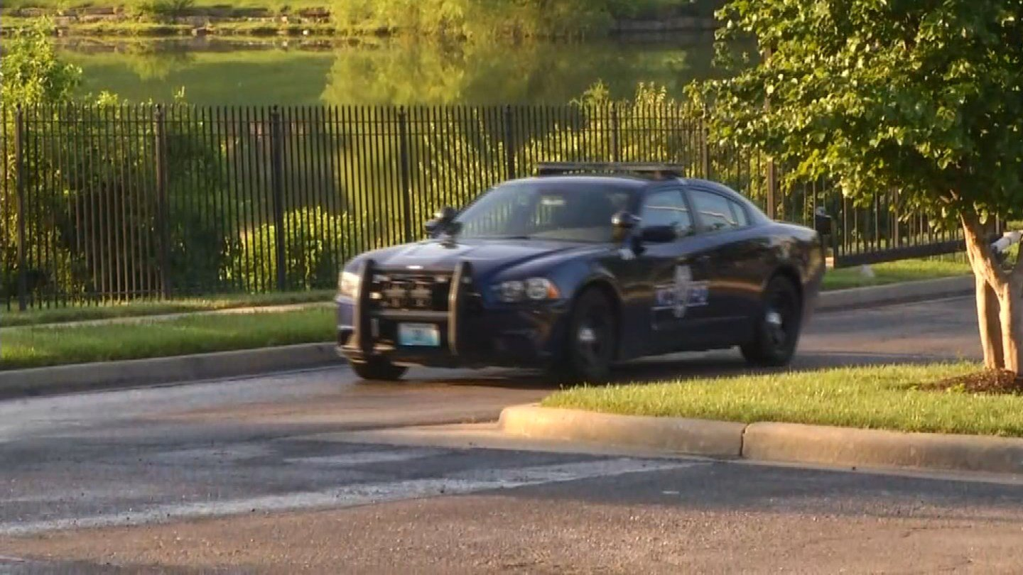 The shooting happened about 4:55 a.m. at the Timber Lakes Apartments in the 11200 block of Montgall Avenue. (KCTV5)
