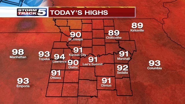 An excessive heat warning will cover the entire Kansas City metro area from Wednesday until Saturday. (KCTV5)