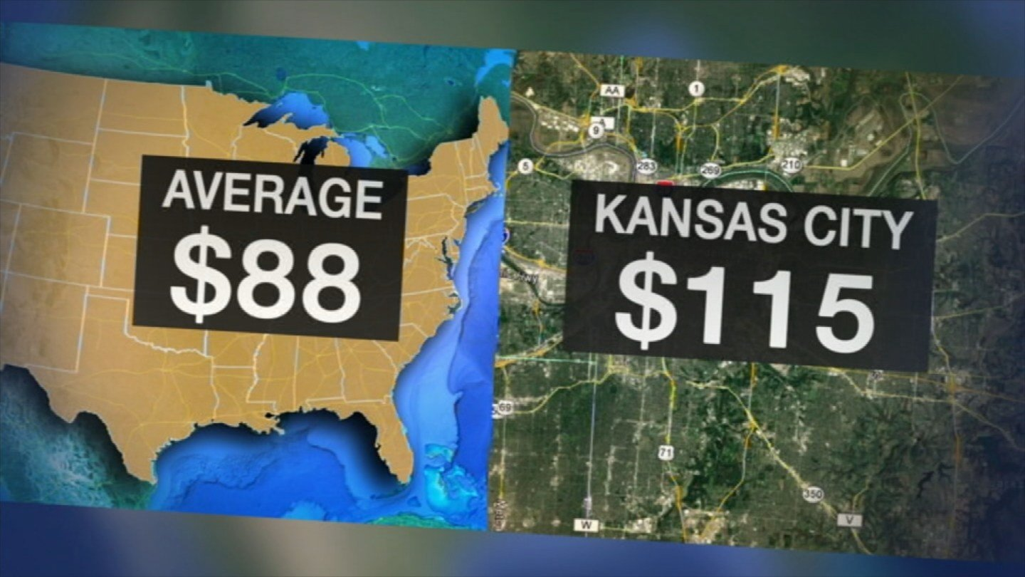 Kansas City water bills are higher than many comparable cities. The average family with small consumption pays about $115 a month. (KCTV5)