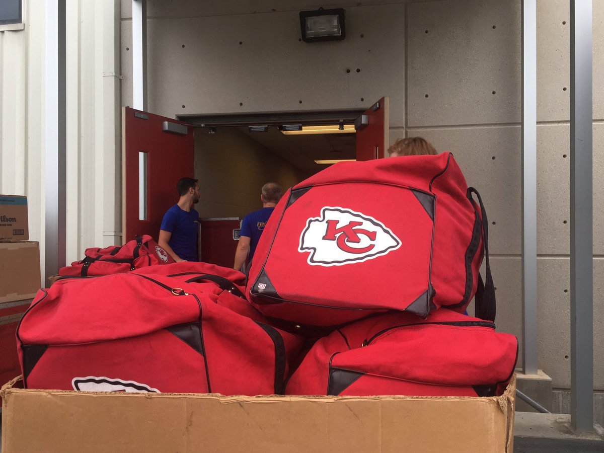 This Chiefs equipment crew of five has to fill 11 trucks to go up to training camp with not only equipment for the players but also for 180 staff members. (Dani Welniak/KCTV5 News)