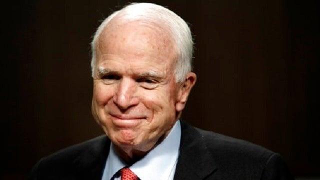(AP Photo/Jacquelyn Martin, File) In this July 11, 2017, file photo, Sen. John McCain, R-Ariz., arrives on Capitol Hill in Washington.