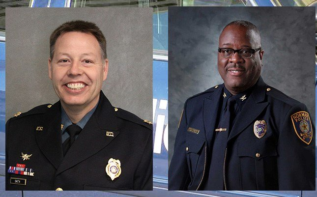 Two finalists were announced Thursday morning. They are Mjr. Rick Smith with the Kansas City Police Department and Police Chief Keith Humphrey with the Norman, Oklahoma Police Department.