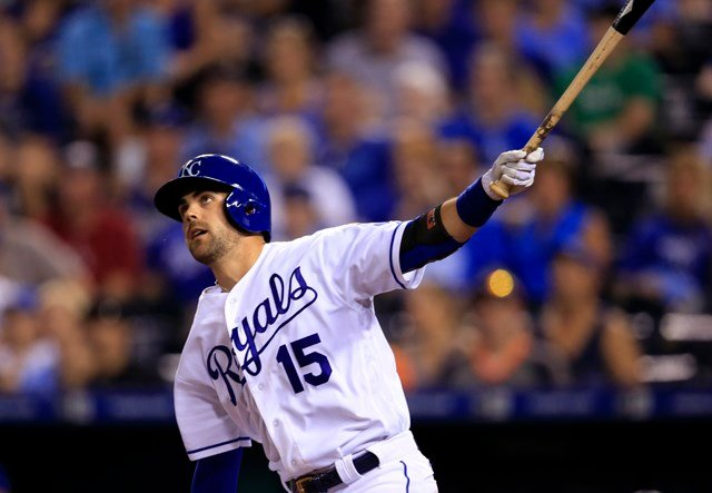 Eric Hosmer and Whit Merrifield homered for the Royals, who moved within 1½ games of first-place Cleveland in the AL Central. (AP)