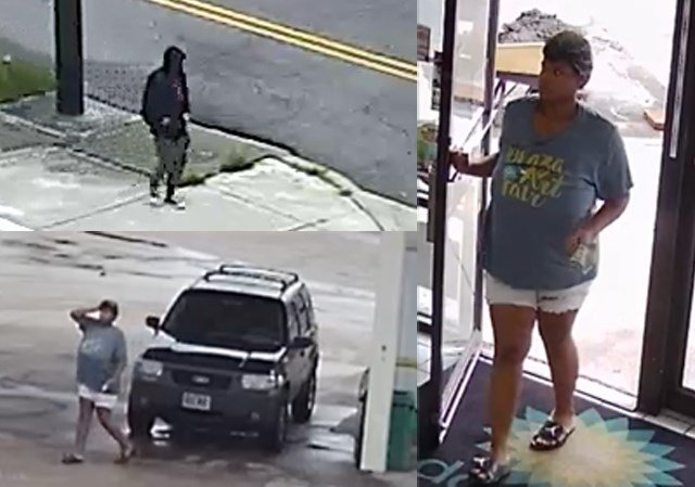 Pictures of the man and woman involved in the crimes. (KCTV/KCPD)