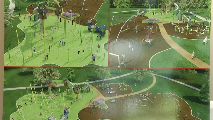 A view of the concept for the playground. (KCTV)