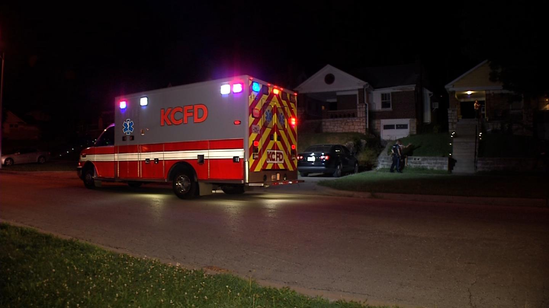 The scene on Van Brunt on Friday night. (KCTV)