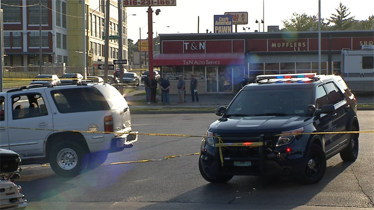 The scene where the shooting happened on Friday evening. (KCTV)