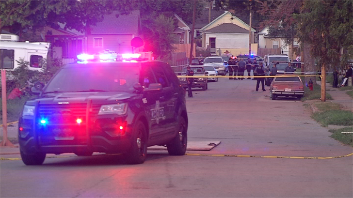 The man who died at the hospital was shot in a front yard. (KCTV)