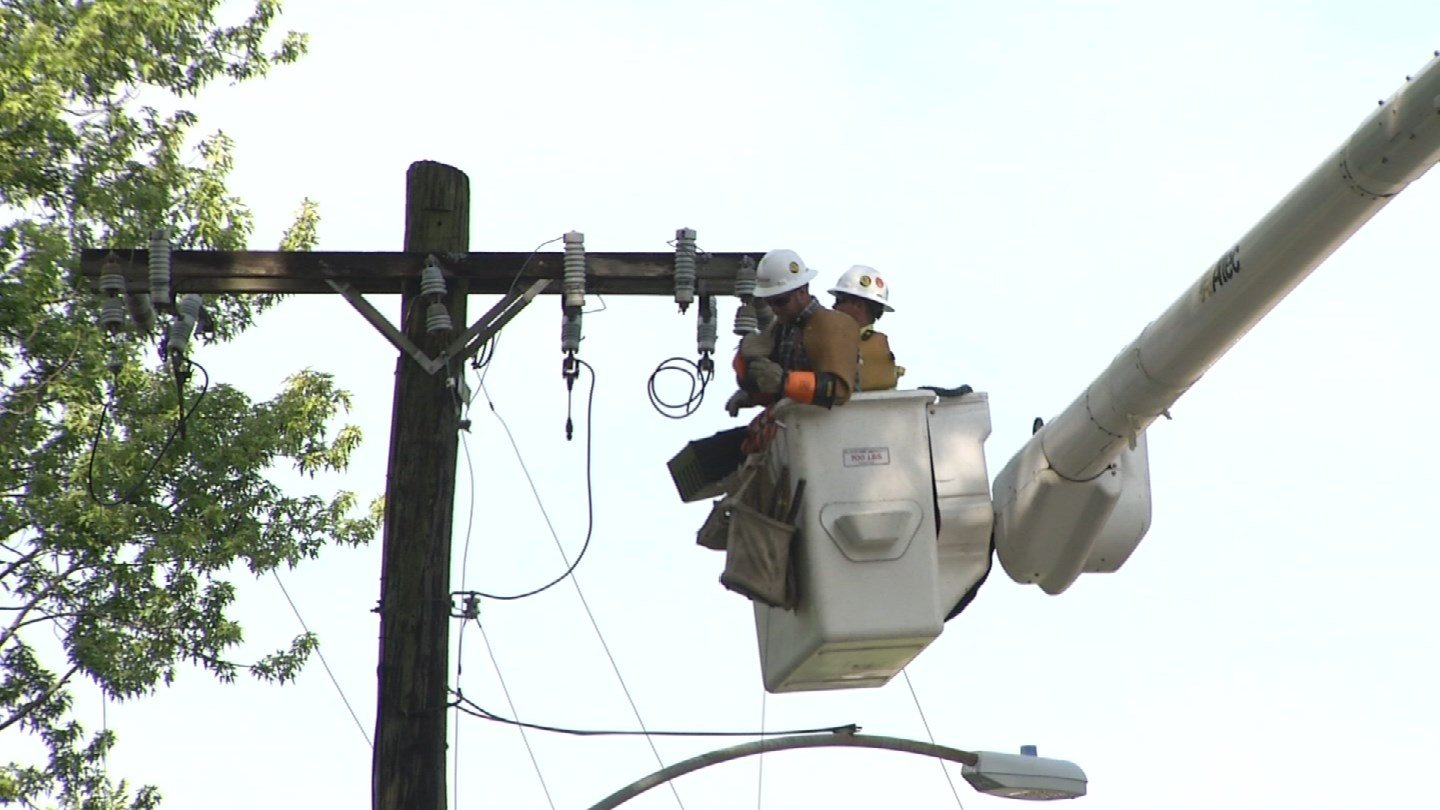 Overall, nearly 140,000 customers were without power at some point during Saturday evening's storm, representing one of the worst storms in the KCP&L's history, the electric company said Monday. (KCTV5)