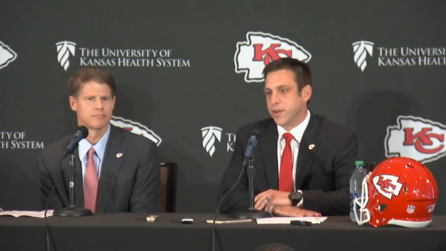 The Kansas City Chiefs introduced Brett Veach as its new general manager on Monday. (KCTV5)