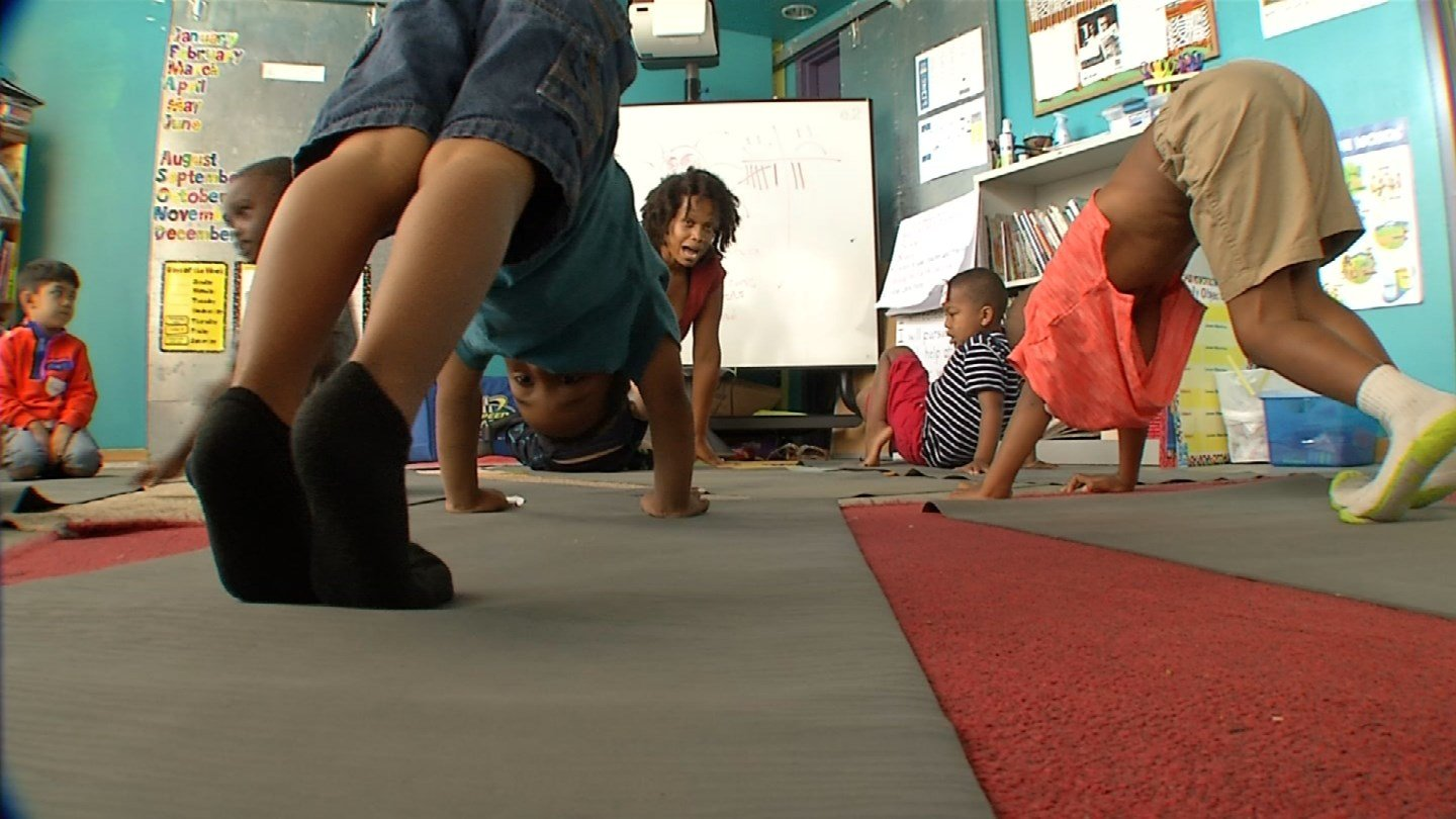 Dreams KC founder and executive director Catina Taylor says she wanted to take a holistic approach to education, and she believes yoga is one of the building blocks for that. (KCTV5)