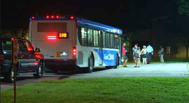 Several people living in the area were asked to leave their homes and were loaded on to an air-conditioned bus due to the possible explosive. (KCTV5)