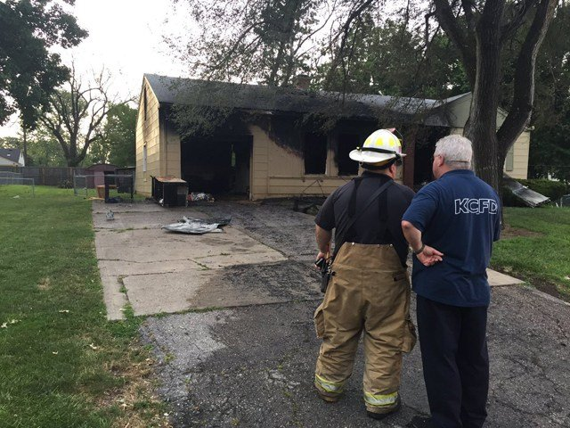 The fire started about 5:05 a.m. on Wednesday at a house in the 5700 block of Blue Ridge Cutoff. (KCTV5)