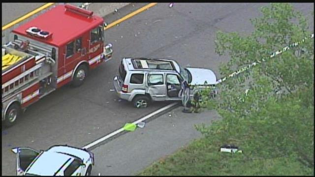 One person was ejected from a vehicle after a crash on Interstate 70 and the Turner Diagonal in KCK. (KCTV5)