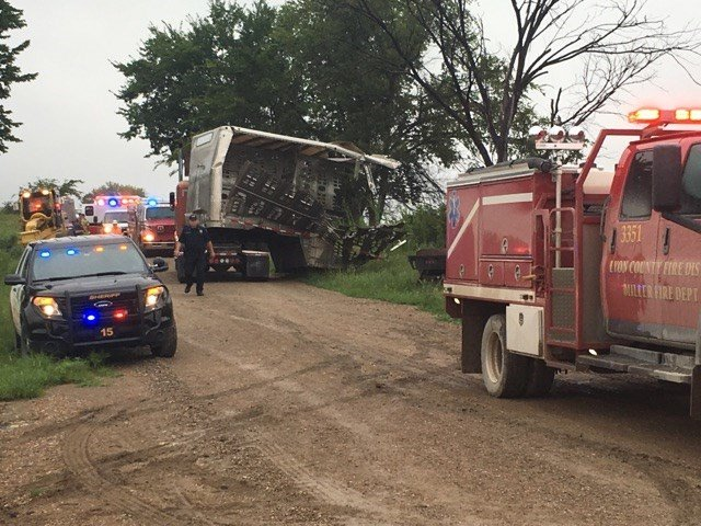 Authorities say no one was seriously injured when an Amtrak passenger train collided with a cattle truck in eastern Kansas. (KVOE AM/FM )