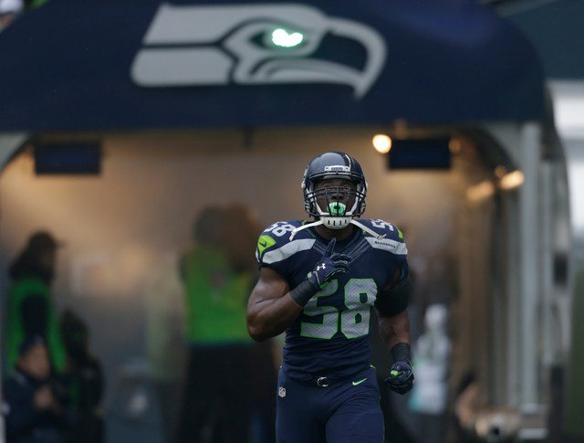 Pierre-Louis was taken by the Seahawks in the fourth round of the 2014 NFL Draft. (AP)
