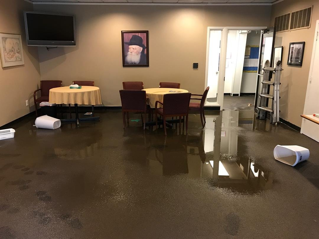 A view of some of the damage floodwaters caused at the synagogue. (Emily Rittman/KCTV)