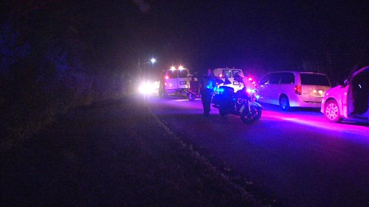 The scene near where the accident happened. (KCTV)