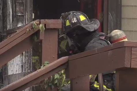 Crews from the Overland Park and Olathe fire departments responded at 2:30 p.m. Tuesday to a house fire at 156th Terrace and Bond.(Overland Park Fire Department)