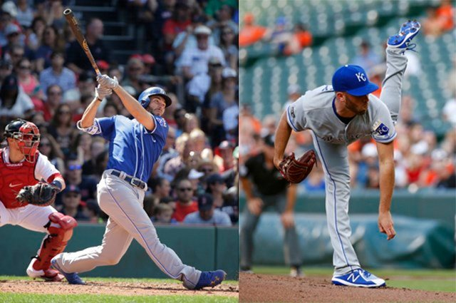 The award is the 10th of Hosmer's career and Duffy's fourth. (AP)