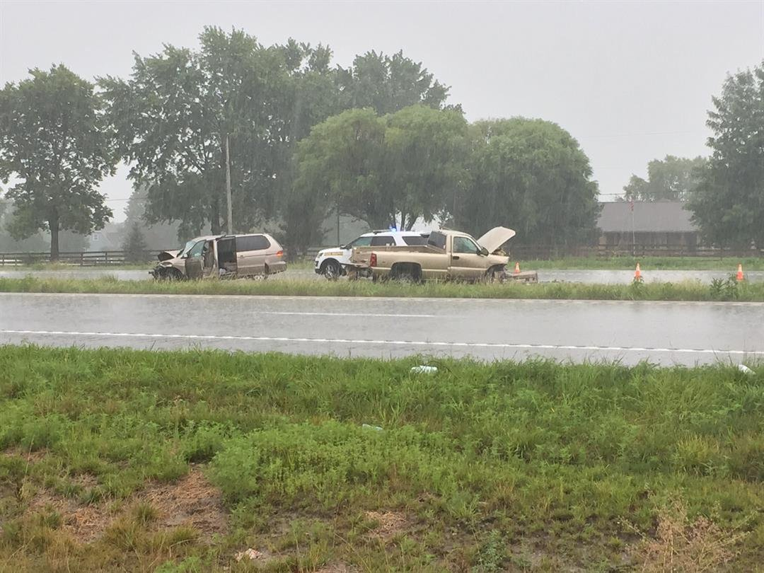 The scene of the crash on 50 Highway. (Dwain Crispell/KCTV)