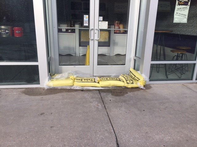 Some businesses tried to use sandbags, but it wasn't enough. (KCTV)