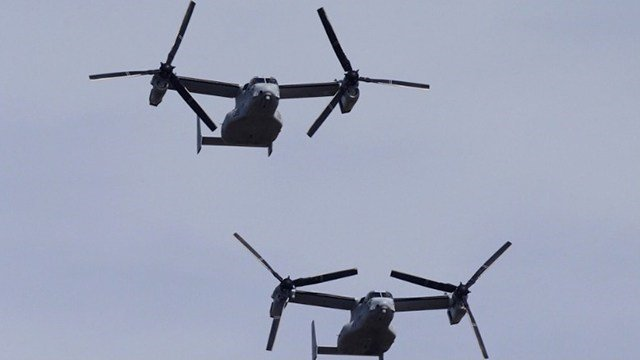 Pacific Recovery Team Finds Crashed Osprey, 3 Marines Still Missing