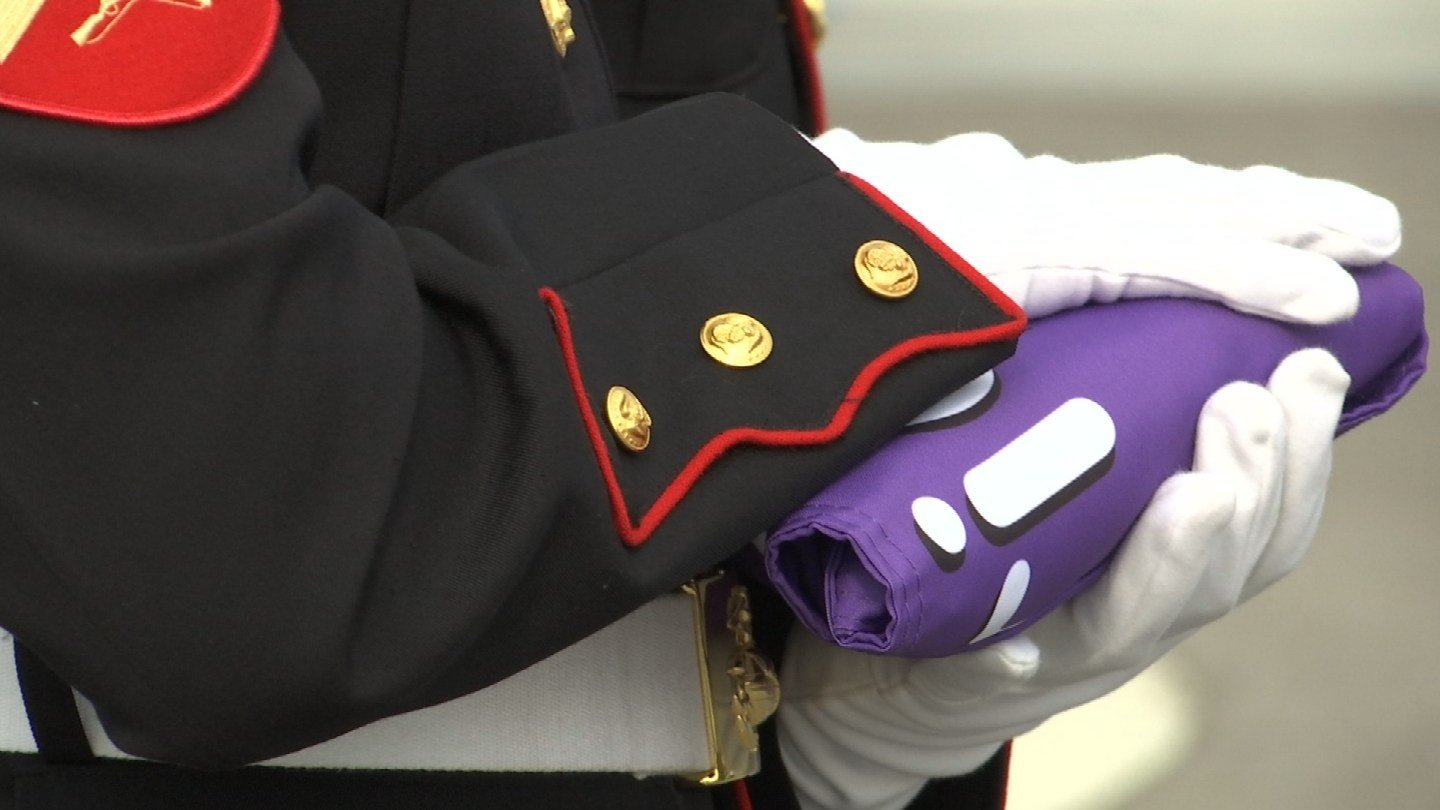Several Kansas City veterans honored soldiers wounded in combat Monday morning for Purple Heart Day. (KCTV5)