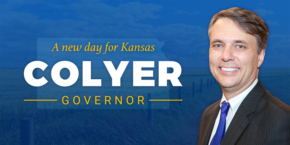 Lt. Governor Jeff Colyer has announced that he is formally appointing a treasurer for his governor campaign committee with paperwork filed Tuesday. (Press Team Dr. Jeff Colyer for Governor)