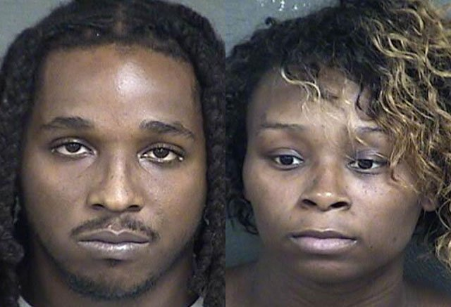 Joshua and Jasmine Brunt made their first court appearance via video conference with a judge in Wyandotte County Tuesday morning. (Wyandotte County Jail)