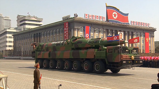 """North Korea's military is """"examining the operational plan"""" to strike areas around Guam with medium-to-long-range strategic ballistic missiles, state-run news agency KCNA said early Wednesday local time."""