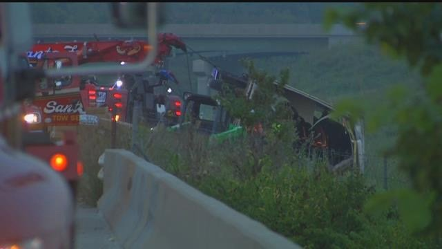 The Kansas Turnpike Authority says one person has been injured but have not said how bad the injuries were. (KCTV5)