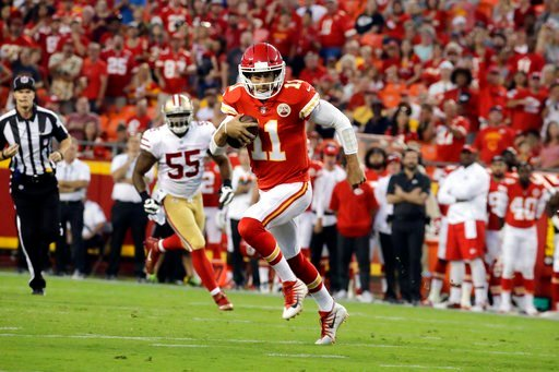 Alex Smith finished 4-of-6 in his preseason opener. (AP)