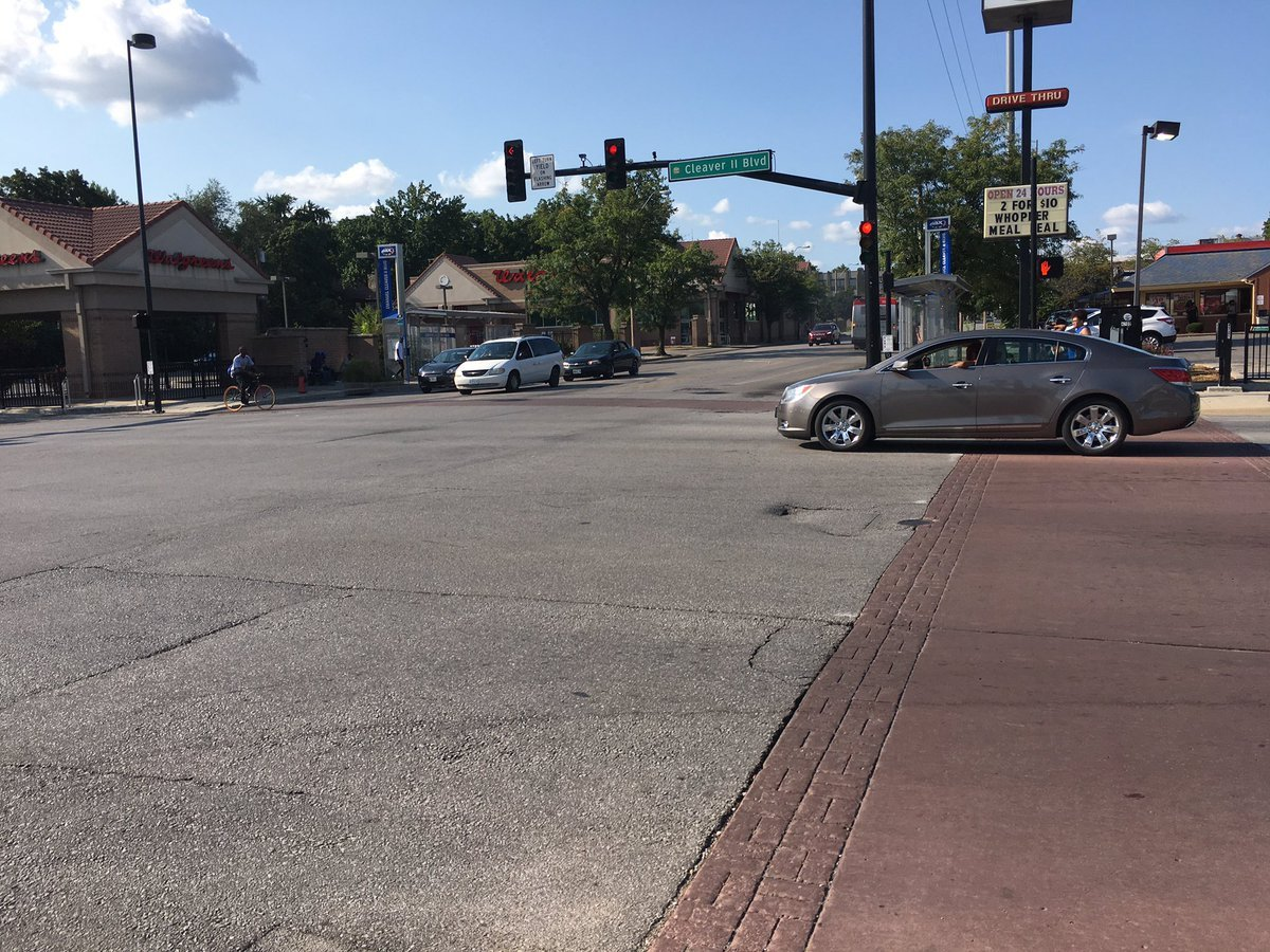 The area where the bus was when the incident happened. (Nathan Vickers/KCTV)