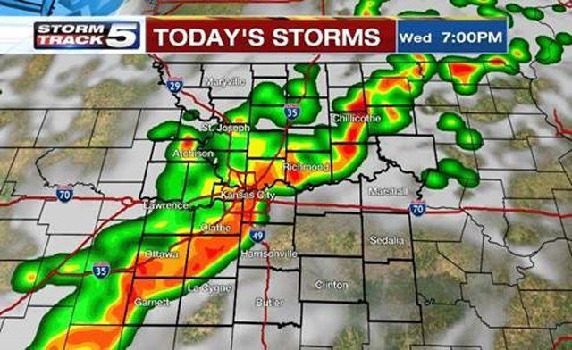 Storms expected to move in; heavy rain the main hazard