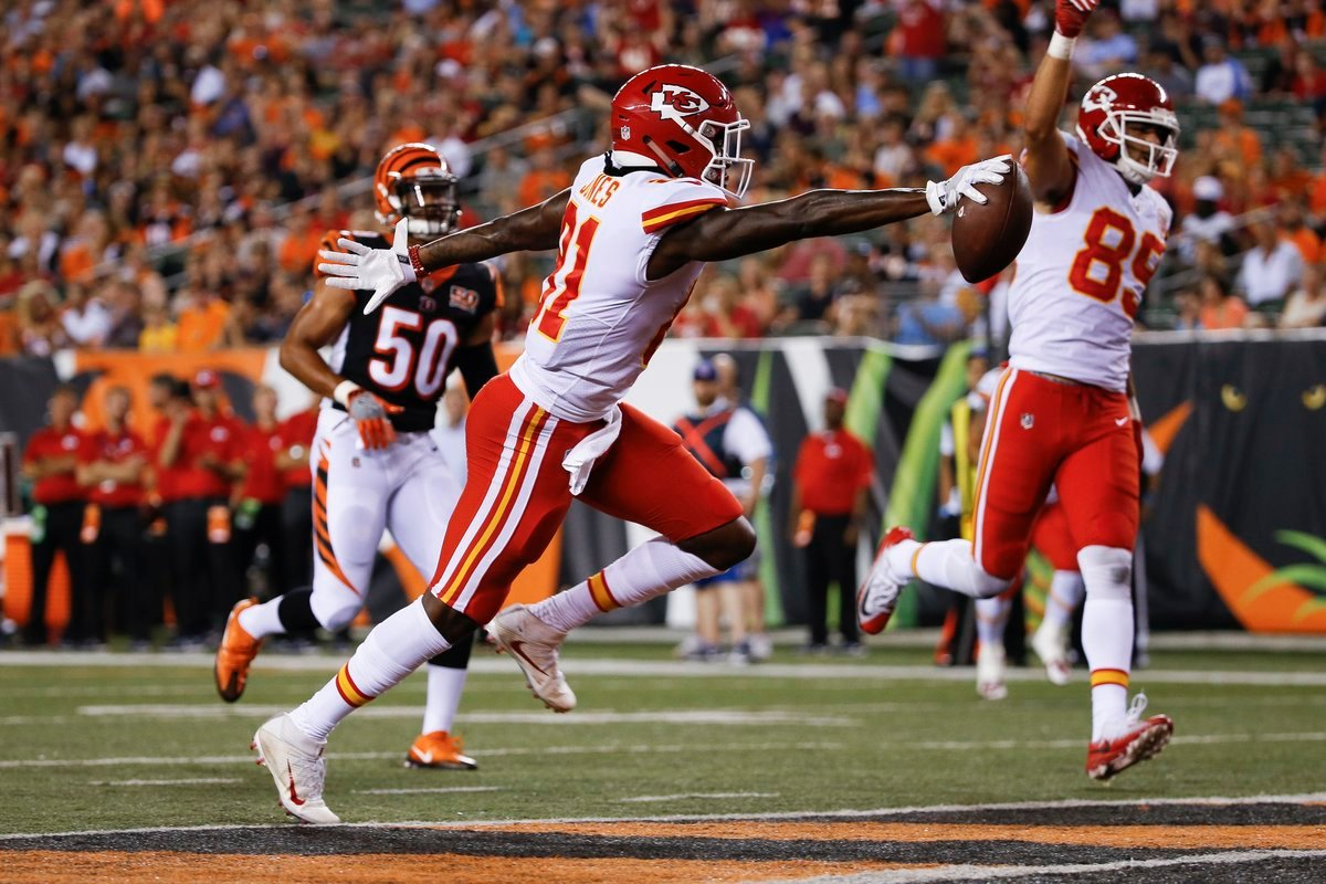 The Chiefs defeated the Bengals 30-12 on Saturday night. (AP)