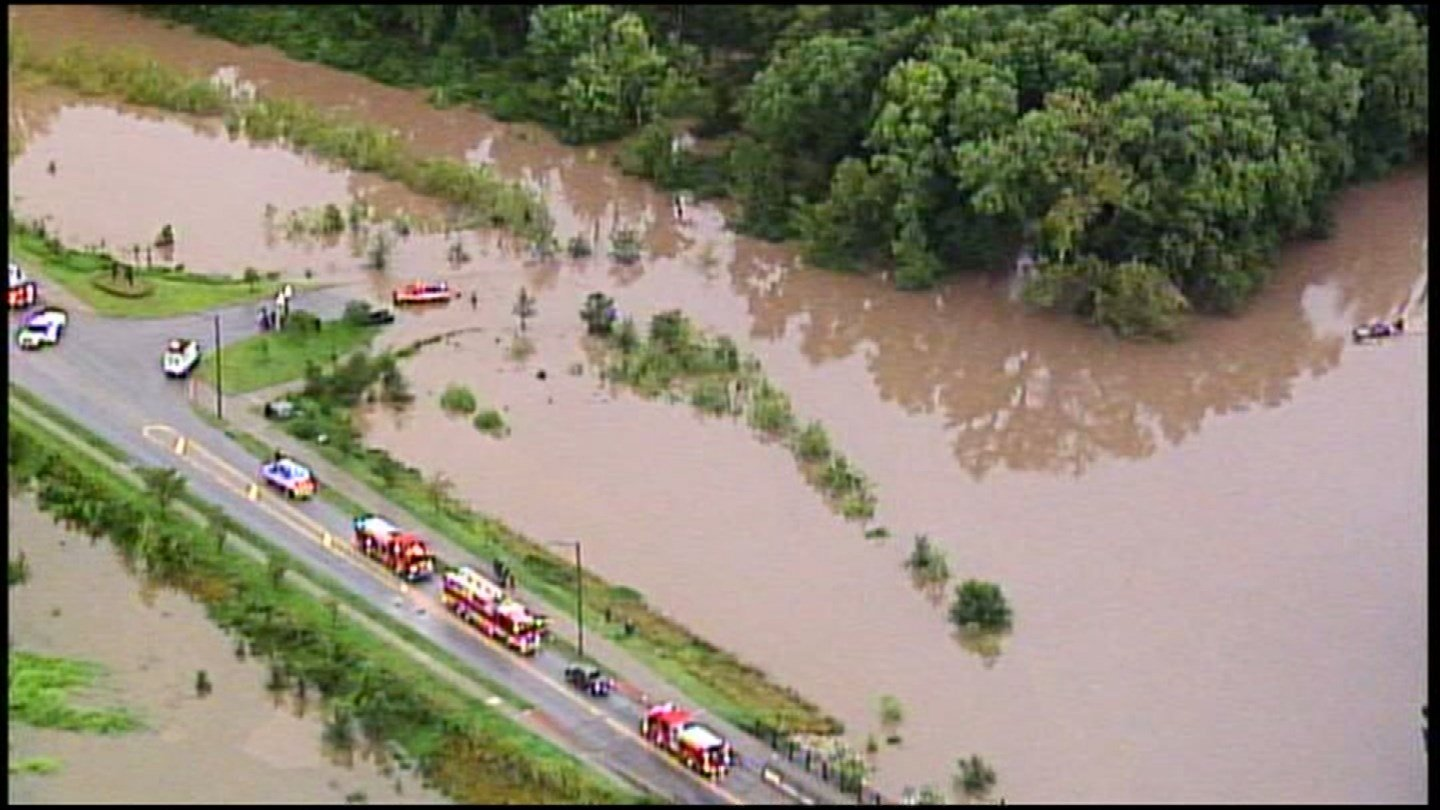 Overnight rains have led to historic flooding in portions of the Kansas City metro area. (KCTV5)