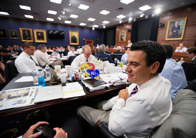 Rep. Kevin Yoder is expected to face tough questions about health care and other issues during a town hall meeting. (AP)