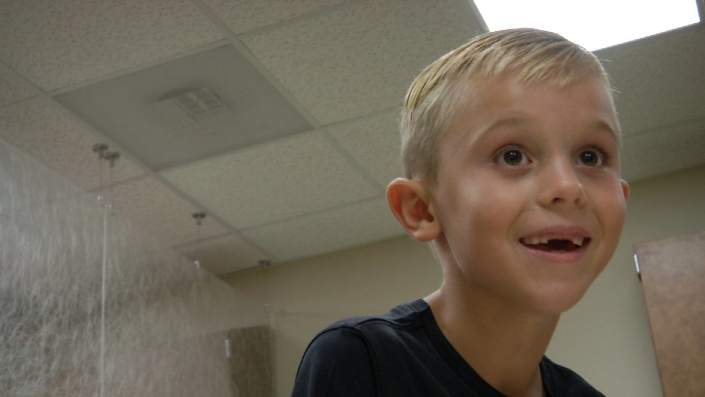 Mason Payne suffered a stroke that doctors say could have taken his life if it wasn't for the swiftness of both his parents and the medical staff involved.(KCTV5)