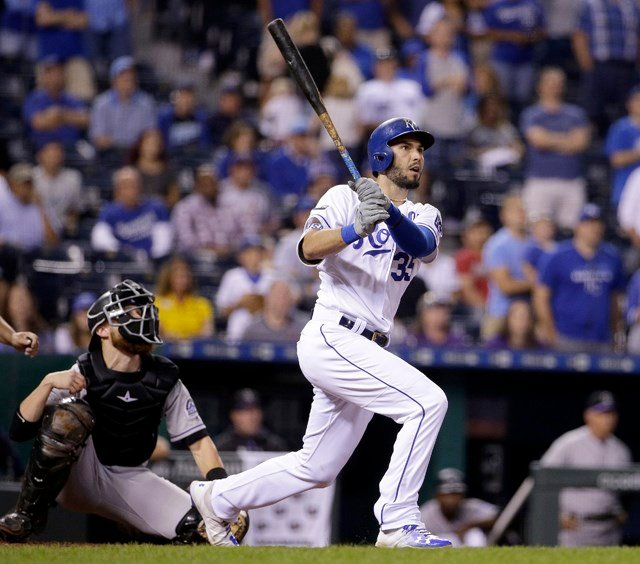Hosmer's 21st home run of the season was the first game-ending shot of his career. (AP)