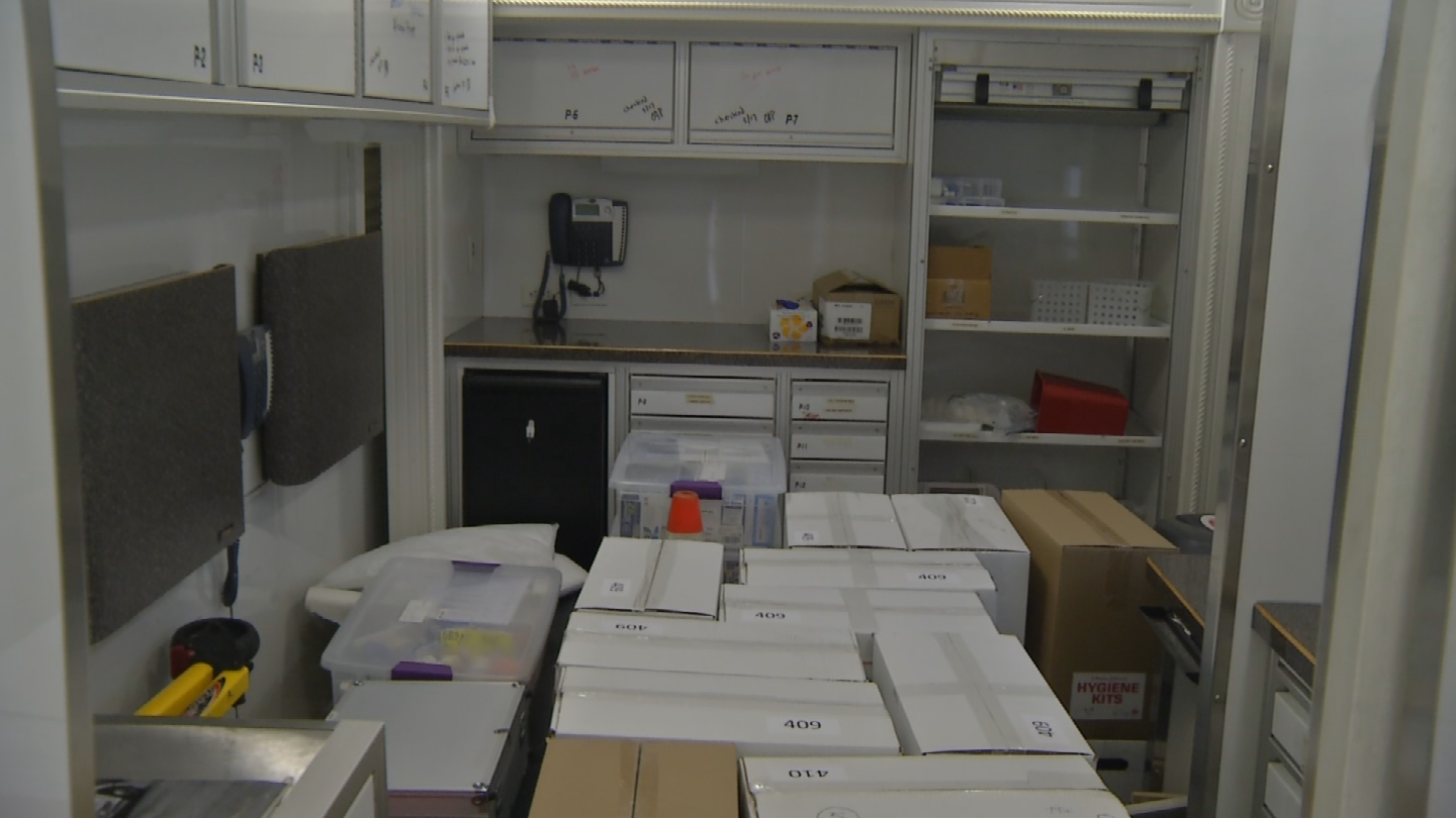 A view of some of the supplies they are taking with them. (KCTV)