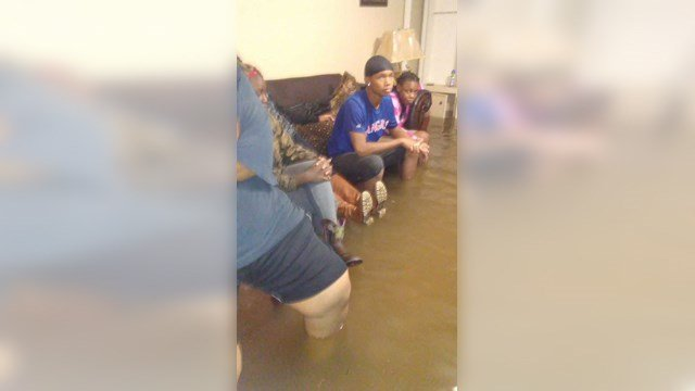 Cher-Ron Thicklin sent this picture to show how bad the flooding was in her living room. (Cher-Ron Thicklin/KCTV)